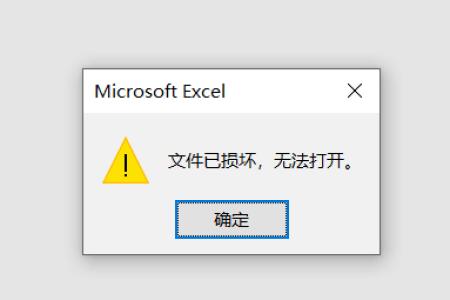 Excel文件已损坏无法打开 解决方法